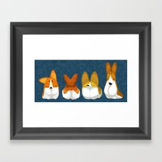 Corgi Framed Art Print
