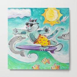 California Cats Metal Print
