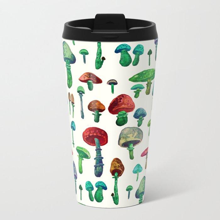 Mushrooms water Metal Travel Mug