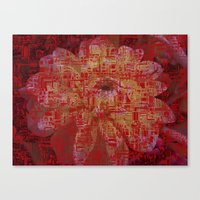 techno Canvas Prints featuring Techno Asian by DesignsByMarly