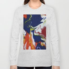 Fluid Bliss - Abstract, fluid painting Long Sleeve T-shirt