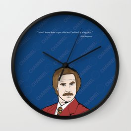 Ron Burgundy Anchorman  Wall Clock