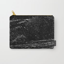 surf detail drawing, white on black Carry-All Pouch