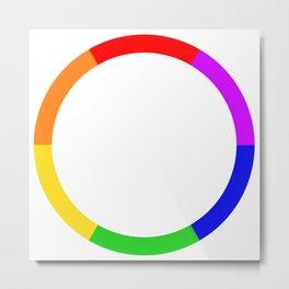 LGBT Rainbow Circle Metal Print
