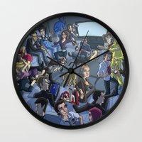 tv Wall Clocks featuring TV by Anna Rettberg
