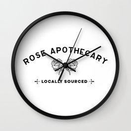 Rose apothecary. Rosebud motel. David Rose. Schitts Creek Wall Clock