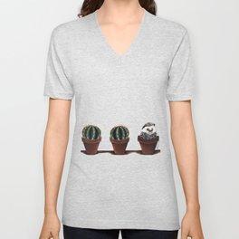 cactus, cactus, hedgehog Unisex V-Neck