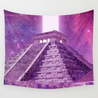 mexico Wall Tapestries featuring Hipsterland - Mexico by Alejo Malia