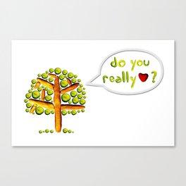 Do you love? Canvas Print