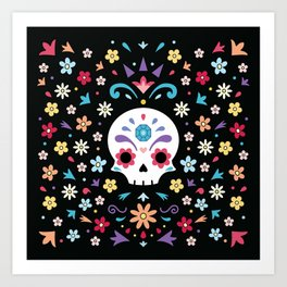 Cute day of the dead Art Print