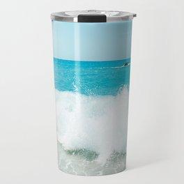 Minimal turquoise ionian wave - Porto Katsiki beach Travel Mug