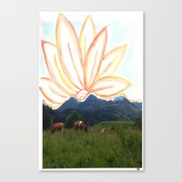 switzerland Canvas Prints featuring switzerland by Anna Bergland