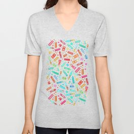 Rainbow Stationary and Art Supplies - White Unisex V-Neck