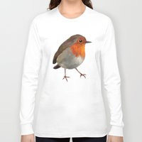 robin Long Sleeve T-shirts featuring Robin by Freeminds