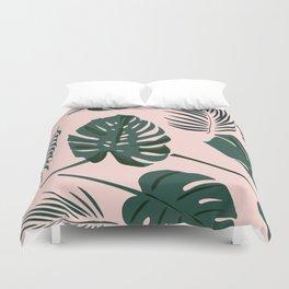 Tropical palm Duvet Cover