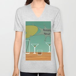 happy hour Unisex V-Neck