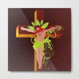 Crucifixion (Crucificação)  Metal Print