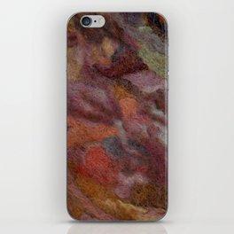 Warm earthy woolen mosaic iPhone Skin