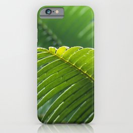 SELECTIVE FOCUS PHOTOGRAPHY OF GREEN LEAFE iPhone Case