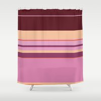hercules Shower Curtains featuring  Megara by Fräulein Fisher