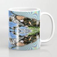 merlin Mugs featuring Desert Merlin by Filip Klein