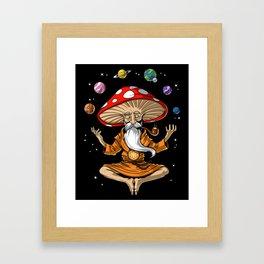 Buddha Magic Mushroom Framed Art Print