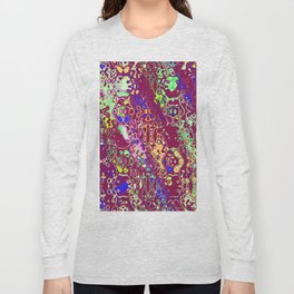 Shapes on a purple background Long Sleeve T-shirt