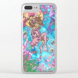 Tropical daydream Clear iPhone Case