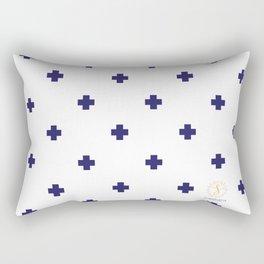 Modern Swiss - Bold Style Cross Plus Sign Rectangular Pillow