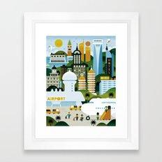 GOOD TRIPS Framed Art Print