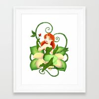 poison ivy Framed Art Prints featuring Poison Ivy  by Katie Simpson a.k.a. Redhead-K