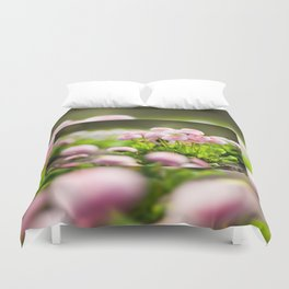 Bellis perennis pomponette called daisy Duvet Cover