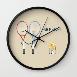 Fun Match Wall Clock