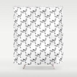 Dark-Eyed Junco pattern Shower Curtain