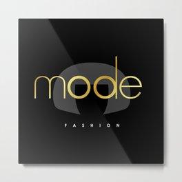 Edna Mode Fashion Dark Gold Metal Print