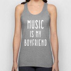 Music Is Boyfriend Quote Unisex Tank Top