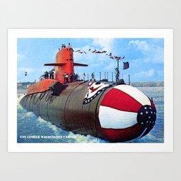 USS GEORGE WASHINGTON CARVER (SSBN-656) Art Print