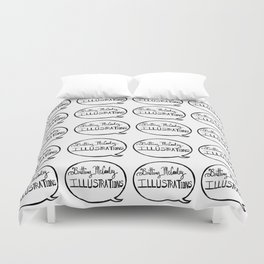 Brittany McCauley illustrations logo pattern Duvet Cover