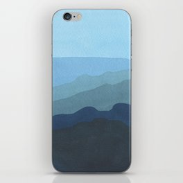 Landscape Blue iPhone Skin