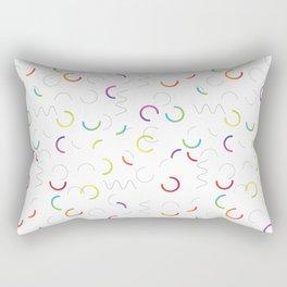 Funny color design. Arcs and Lines #3 Rectangular Pillow