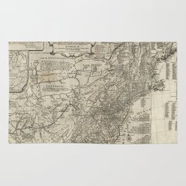 Map of the middle British colonies in North America - 1776 Rug