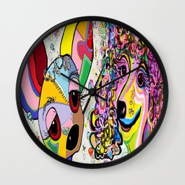Playful Pups Wall Clock