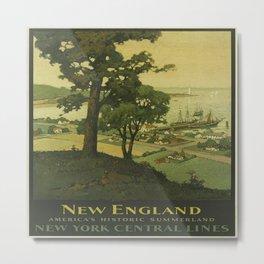 Vintage poster - New England Metal Print