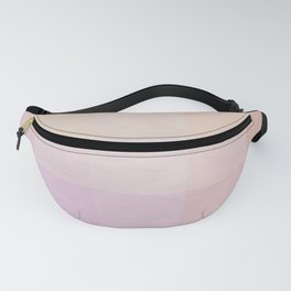 Pixel Gradient between Soft Yellow and Grayish Red Fanny Pack