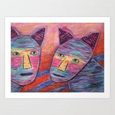 Cat Guys Art Print