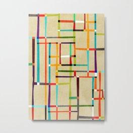 The map (after Mondrian) Metal Print