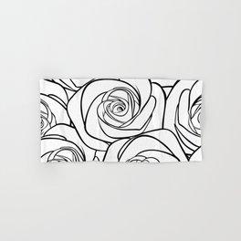 White Roses Hand & Bath Towel