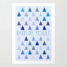 Bain de Foule. Art Print