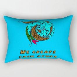 "we create each other ""gaia"" Rectangular Pillow"