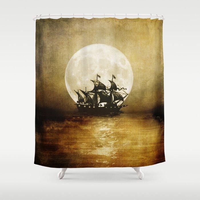 Vintage. Trip. Shower Curtain